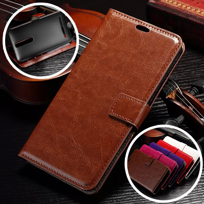 For ASUS Zenfone 2 Luxury Retro Leather Wallet Flip Case For Asus Zenfone2 Phone Bag Stand Cover With Card Holders Capa Celular(China (Mainland))