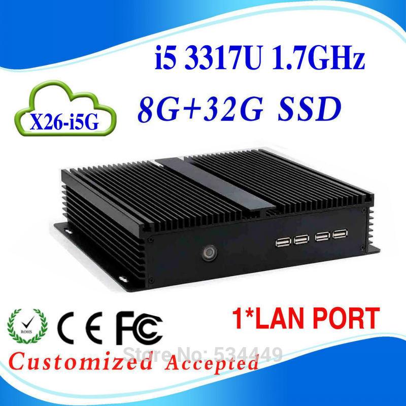 cheap mini server mini itx pc i5 computer 3 Years Warranty i5 3317U Dual Core 1.8Ghz 8G RAM 32g ssd(China (Mainland))
