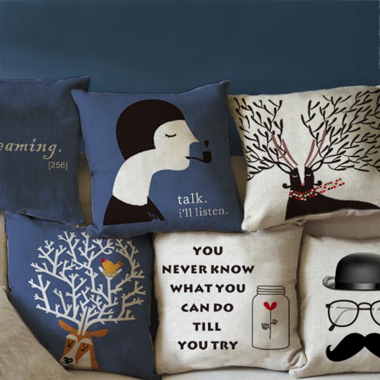 Estilo escandinavo almofadas capa praça decoração capa de almofada travesseiro para sofá secional 45 * 45 cm(China (Mainland))