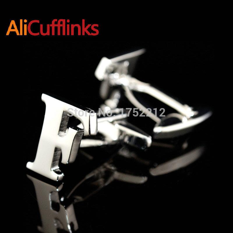 Alicufflinks F abotoaduras carta E G K L mno P Q R S T X Z letras números logo car auto abotoaduras frete Shipping157496(China (Mainland))