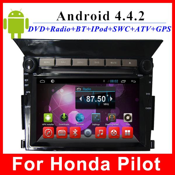 "Prue android 4.4 2 din car radio for Honda Pilot dvd GPS Navigation TV 3G WIFI OBD 6.2"" HD Capacitive screen mulitimedia player(China (Mainland))"