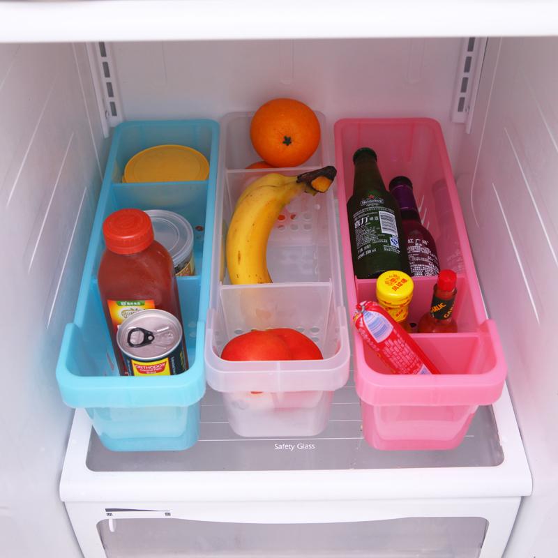Multifunctional water refrigerator food storage box adjustable desktop 3 storage box storage box Free shipping(China (Mainland))