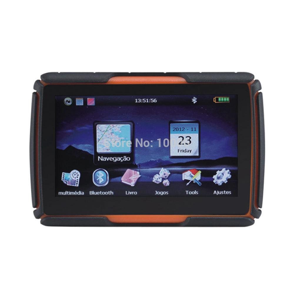 "New 4.3"" Touch Screen Waterproof Motorcycle bike GPS Navigation #180385(Hong Kong)"