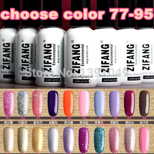 (choose color 77-95) Hot Sale 2015 New 12ml Soak off Nail Art UV Gel Polish 100 COLOR Lacquer Long Lasting Glue FREE SHIPPING(China (Mainland))