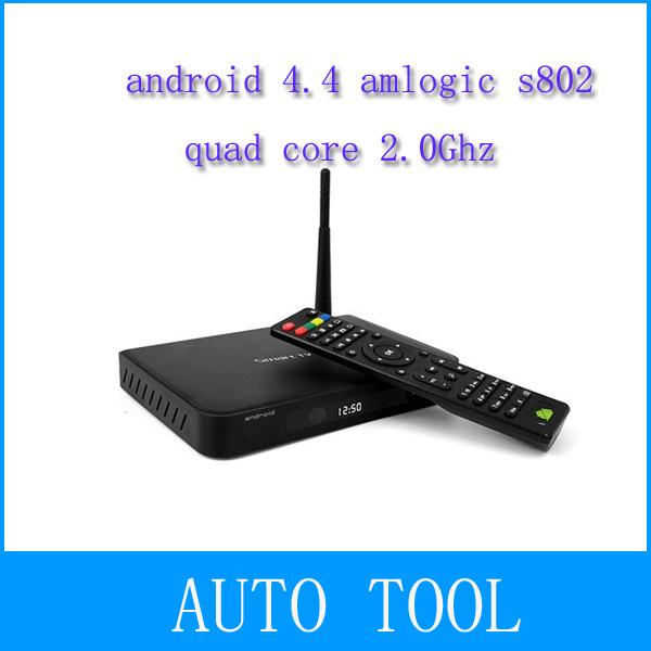 Amlogic S802 Quad core Android 4.4 TV BOX Metal Case 2.4G+5.8G Dual band WIFI Antenna HD 4K XBMC Media Player(China (Mainland))