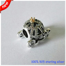 Beads Fits Pandora bracelets Cinderella Pumpkin Silver Beads New Original 100% 925 Sterling Silver Charms DIY Jewelry Wholesale