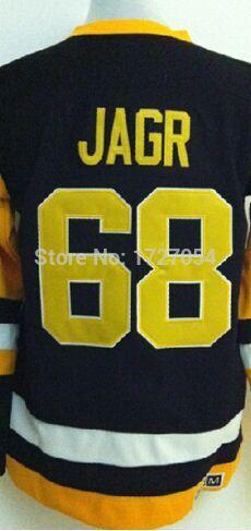 Embroidery #68 Jaromir Jagr Jersey Authentic Pittsburgh Hockey Jerseys Pittsburgh Ice Hockey Jerseys Stitched Size M-XXXL Cheap(China (Mainland))