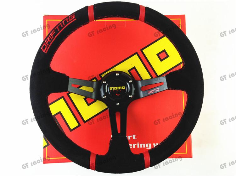 Momo Red Suede Steering Wheel Steering Wheel / Suede