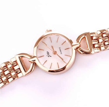 Free shipping Women Watch Bracelet Womens Jewelry Zinc Alloy with Glass Flat Round rose gold color