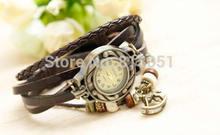 Free shipping!!!Women Watch Bracelet,Wholesale Jewelry, Cowhide