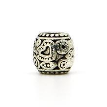 New 1piece 925 Silver Mini Love Heart Bead DIY big hole European Beads Fits Charm pandora