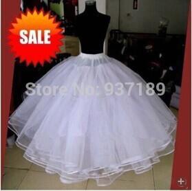 Free shipping Hot Sale 4 layers NO Hoop Wedding Bridal Gown Dress Petticoat Underskirt Crinoline Wedding Accessories(China (Mainland))