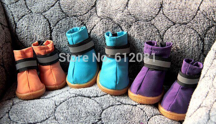 Free shipping pet Dog shoes Non slip waterproof Reflective boots dog shoes Pet outdoor shoes 4pcs/set(China (Mainland))