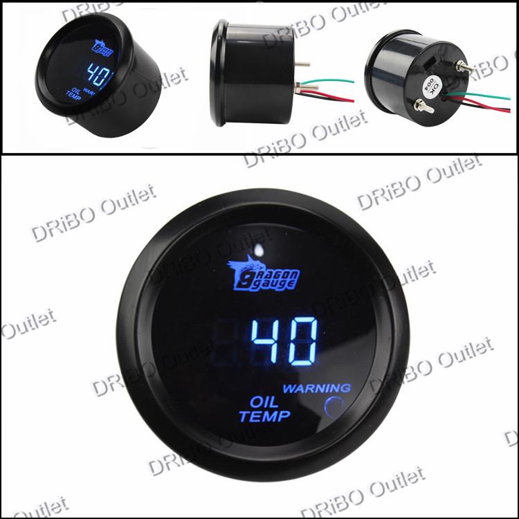 "2 "" / 52 mm Digital Wideband Oil Temp gauge / auto medidor / car meter / tachometer / auto peças(China (Mainland))"