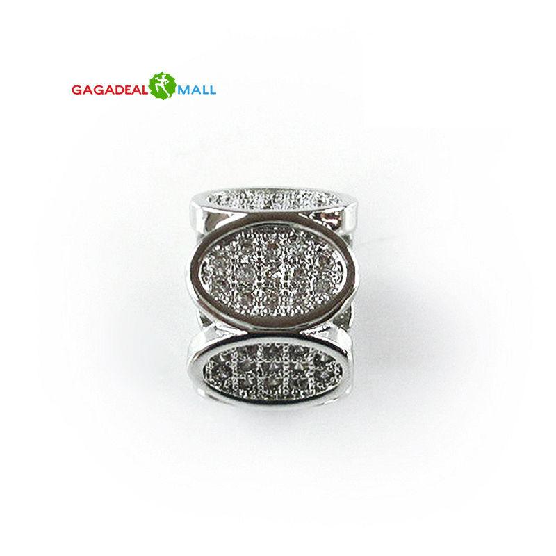 hot sell DIY sliver women jewelry zircon crystal gem charm loose beads fit european pandora style