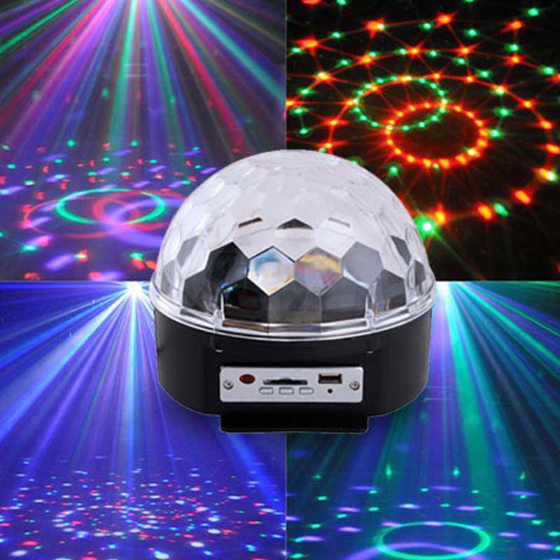 New Digital RGB LED Crystal Magic Ball USB SD MP3 Disco DJ Stage Effect Light(China (Mainland))