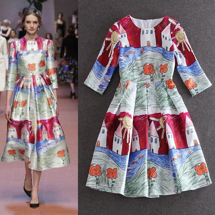 Женское платье 2015 /, o LIRENDQQOO606 2015 runway dress women's high quality dresses  ardesia oba 606 o