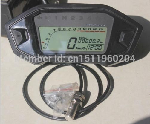 Digital Odometer motorcycle Speedometer Tachometer Gear Dirt Bike 1,2,4 Cylinder(China (Mainland))