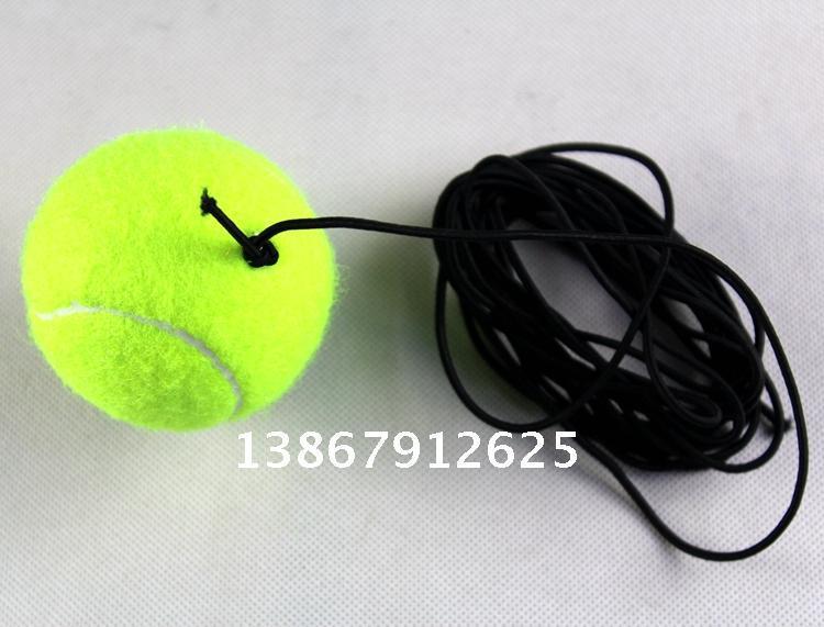 free shipping Belt line tennis training elastic rubber band ball tennis training tennis balls(China (Mainland))