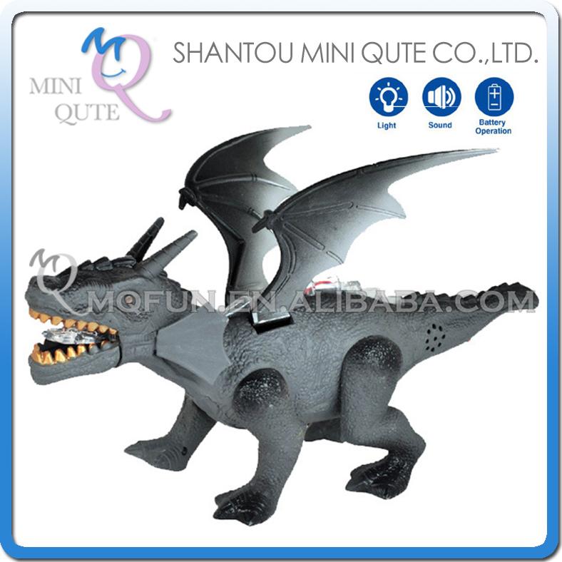 5pcs/lot Mini Qute 31 cm plastic Godzilla Jurassic Park sound flash walk electronic dragon Dinosaur Pterosaur model toy NO.136(China (Mainland))