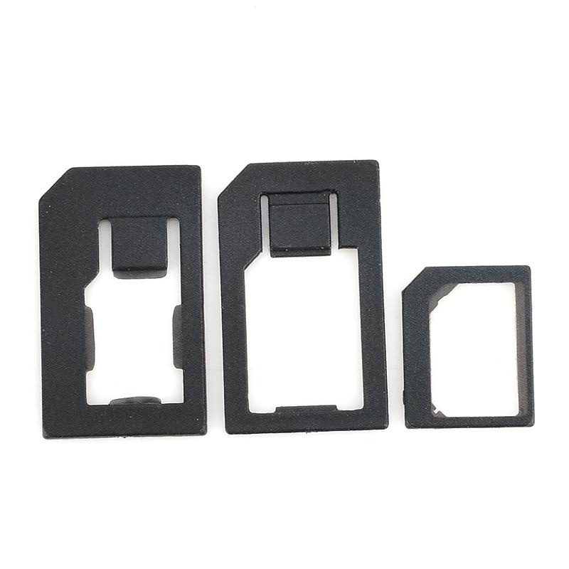 HOT! High Quality 3 in 1 Nano Sim Card Adapters+Micro Sim +Stander Sim Card SIM Card & Tools For Iphone 4 4S 5 Black F5DA1174#M1(China (Mainland))