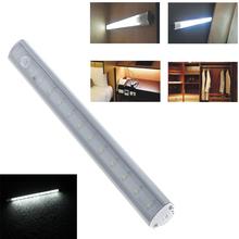 Smd 3528 ha condotto la luce bar led under luce del governo pir lampada sensore di movimento per la cucina armadio armadio guardaroba bianco puro  (China (Mainland))
