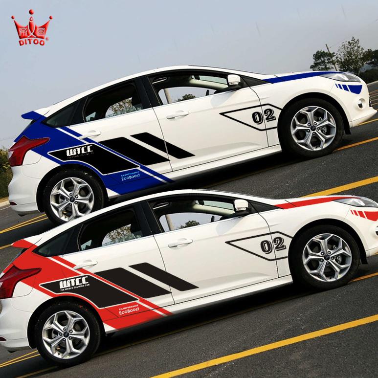Car Racing Stickers Design Fox Car Stickers Garland Wtcc