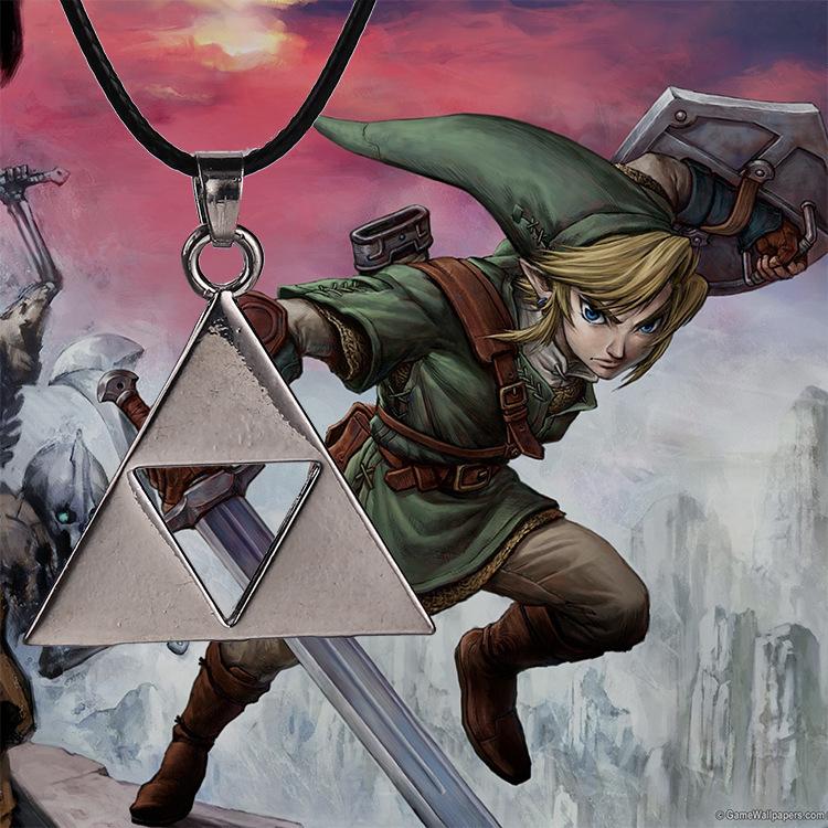 Triforce Necklace Pendant Triforce Necklace Metal