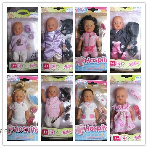 Hsb-toys ZAPF CREATION BABY mini baby born Mini pocket boy and girl HOSPITAL 14 cm free shipping(China (Mainland))