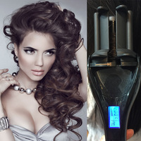 Drop Shipping Newest Professional LCD Display Automatic Curlers Hair Curling Iron Automatic Hair Curler Styler