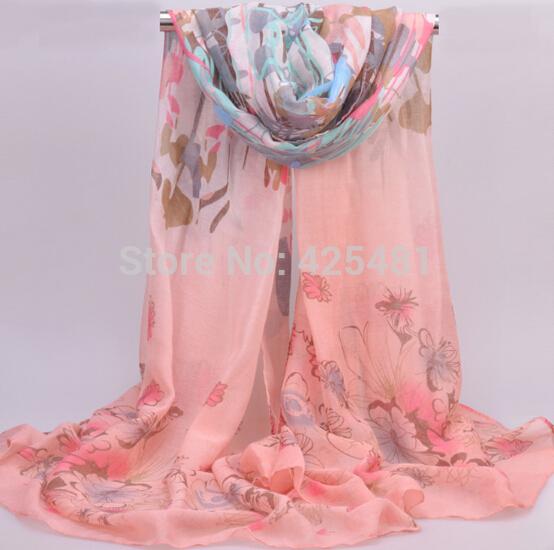 big headscarf maxi flower wrap shawl hijab voile scarf 180*90cm 5 colors headwrap 10pcs/lot free ship(China (Mainland))