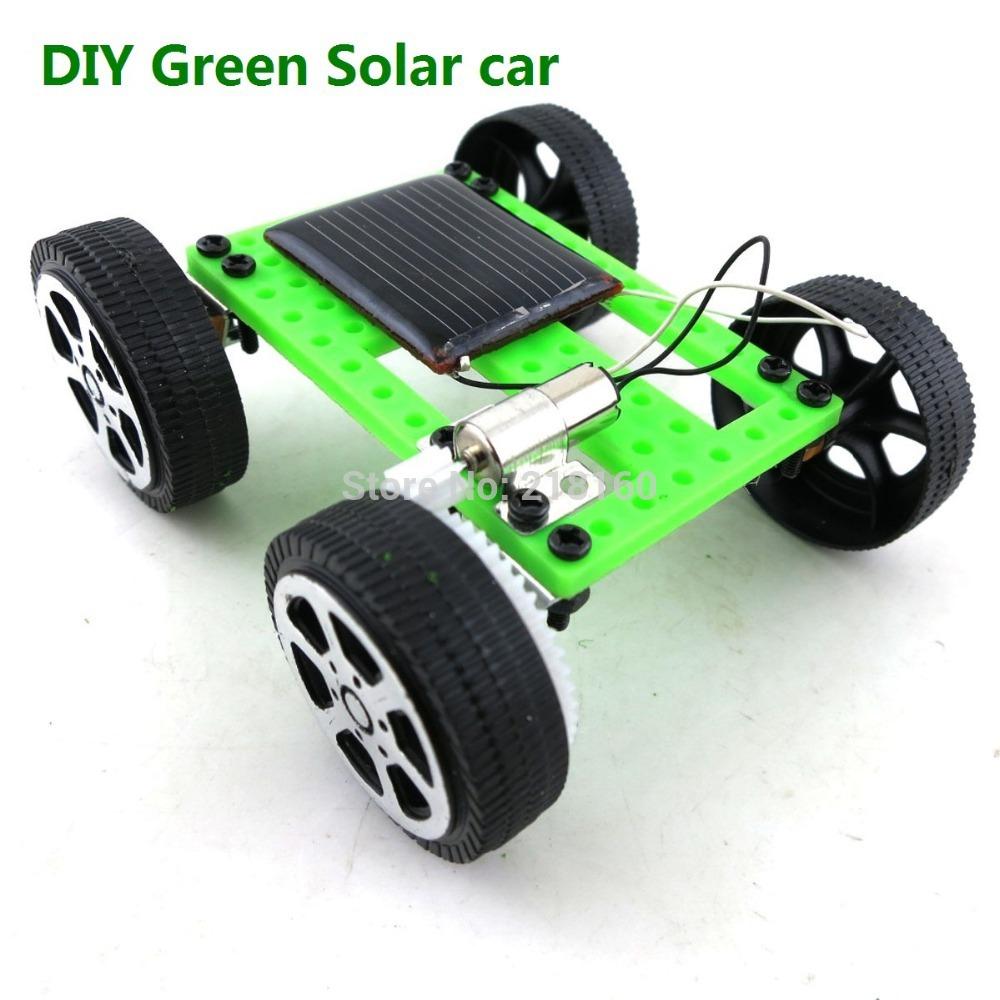 Free shipping long size DIY Solar car, ASSEMBLE SOLAR VEHICLE YOURSELF mini solar energy powdered toy racer Child kid solar car(China (Mainland))