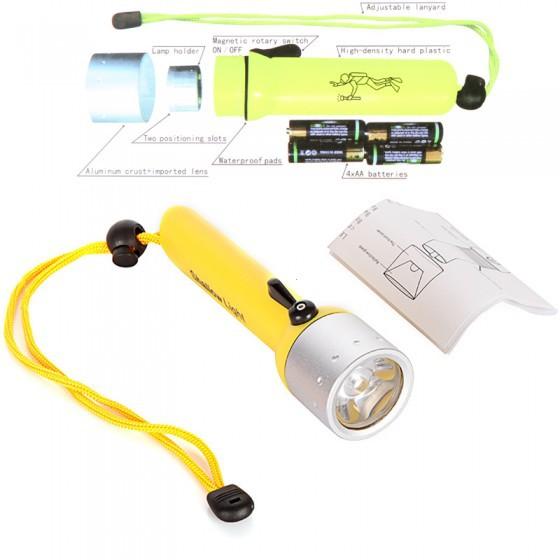 Led Flashlights AA 50M 800 Lumens CREE Q5 Diving Scuba Lamp Flash Torch LED Underwater Hunting Torch Flashlight Free Shipping(China (Mainland))