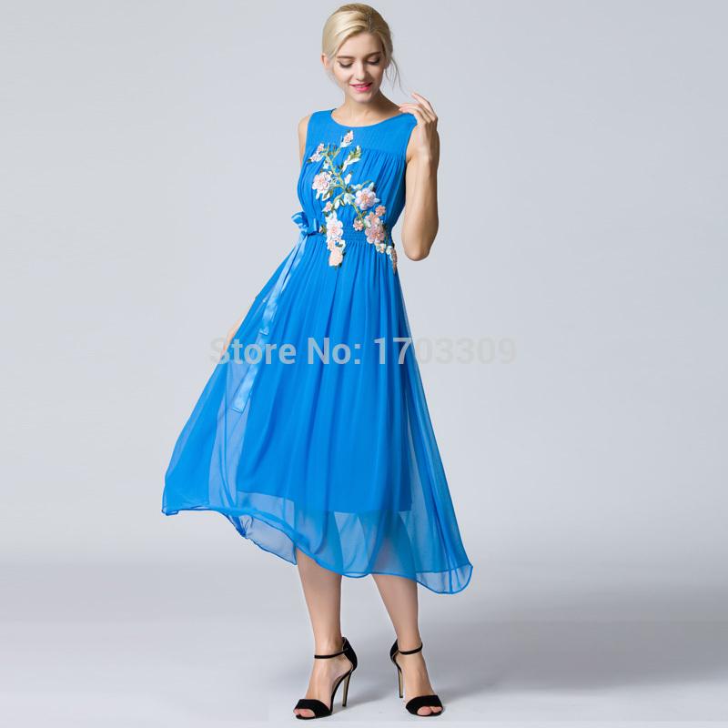 Silk Dresses Sale 2015 Summer Silk Chiffon Dress
