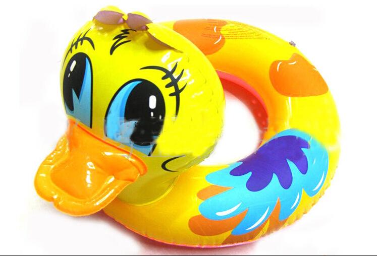 Free shipping 2015 baby swimming ring Eco-friendly swimming Inflatable child seat baby swim boat Popular yellow duck swim ring(China (Mainland))