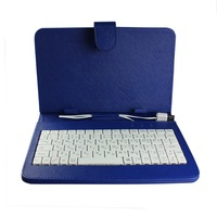 Hot Selling!! English& Russian Leather Keyboard case with USB Interface Keyboard for 7 9 9.7 inch Tablet PC