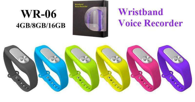 Fashion Casual mini WR-06 Wearable Wristband 4GB professional Digital Voice Recorder wrist watch(China (Mainland))