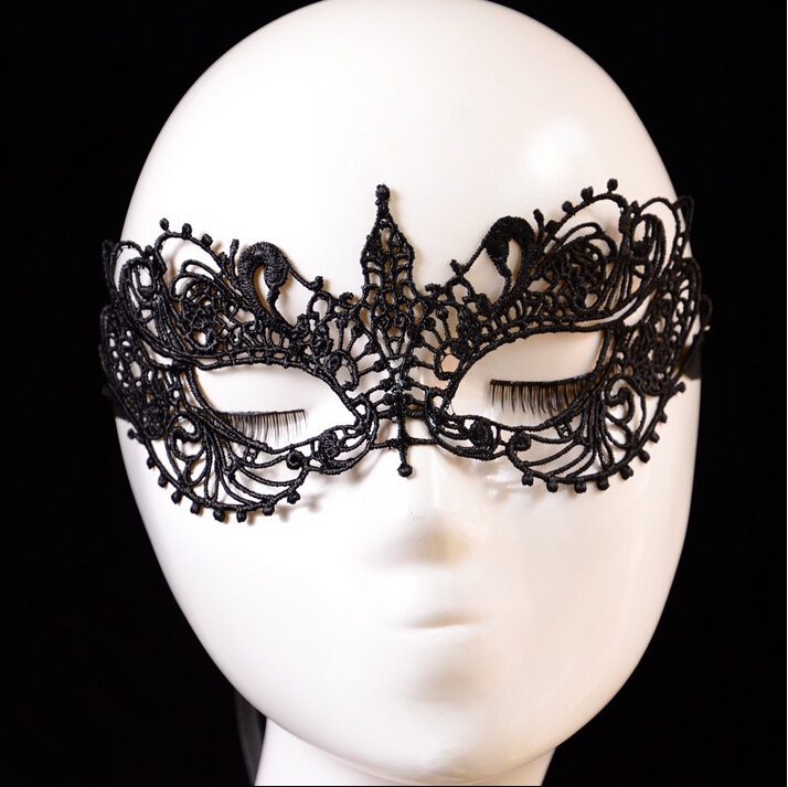 New Halloween Christmas Wedding Birthday Party Sexy Lady Lace Mask Cutout Eye Mask For New Year Party Thanksgiving Day 1LM04(China (Mainland))
