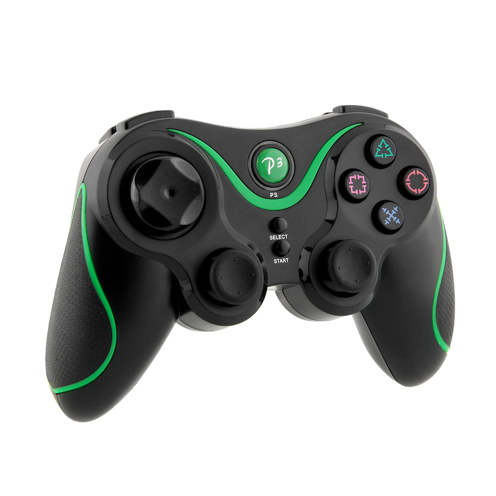 Bluetooth for Doubleshock LED Joystick Controller Gamepad Black Green For Sony for PS3 Playstation 3 PC Video Game(China (Mainland))