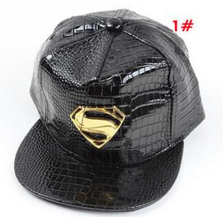 New Style Leather Flat Cap Black/Red/White Children's Baseball Caps Hip Hop Snapbacks Hats(China (Mainland))