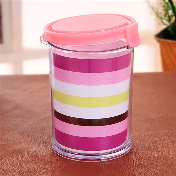 Caixa de armazenamento de alimentos 550 ml tipo redondo Food grade PP selado frascos de armazenamento vasilha 8.2 * 12.8 cm coberto ferramenta da cozinha grátis frete Q-135(China (Mainland))