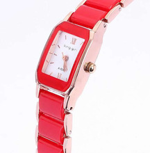 Free shipping!!!Women Watch Bracelet,Cute Jewelry, Zinc Alloy, with Porcelain & Glass, Rectangle, rose gold color plated