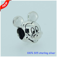 Fits Pandora Bracelets Mickey Silver Beads Newest Original 100% 925 Sterling Silver Charm DIY Jewelry Wholesale