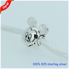 Fits Pandora Bracelets Mickey Silver Beads Newest Original 100 925 Sterling Silver Charm DIY Jewelry Wholesale