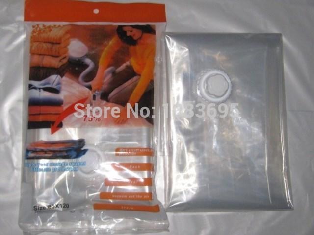 5 pcs/lot clothes vacuum organizer vacuum bags for clothes vacuum packages 60*50/60*80/70*100/80*110(China (Mainland))