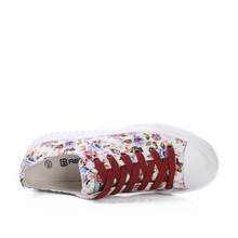 The Spring 2015 College Floral Canvas Korean Thick Soled Shoes Shoes Small Fresh Sweet Muffin