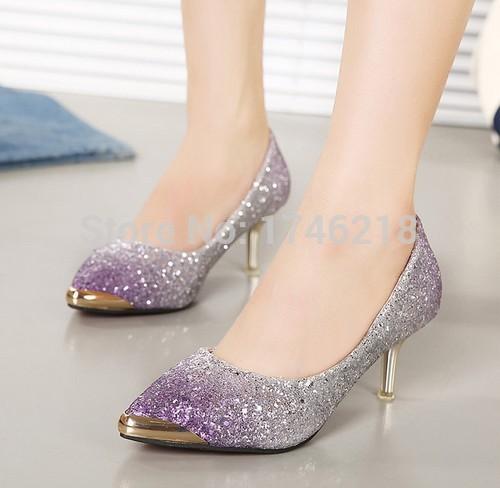 2015 new fashion high heels prom wedding shoes