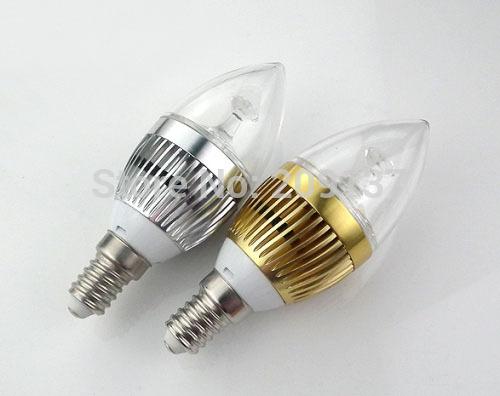 30pcs/lot 3x3w 9w led candle light , e14 /e12 e27 led bulb lamp Warm White / Cool White e14 led 12v candle free shipping(China (Mainland))