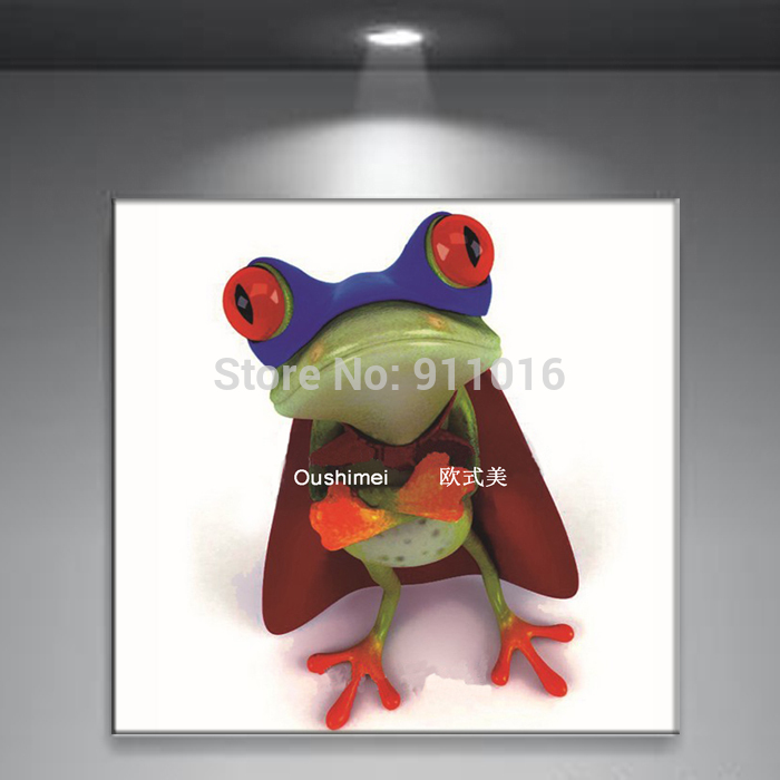 Hand Painted Abstract Frog Picture Home Decor Oil Painting On Canvas Modern Craft Animals Paintings Living Room Wall Pictures(China (Mainland))