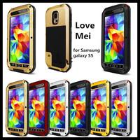 Love Mei Genuine Original Extreme Powerful Life shockproof Waterproof Metal case for samsung galaxy S5 +Gorilla Glass